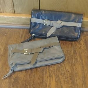 EUC TWO Old Navy Black Gray Crossbody Clutch Bags